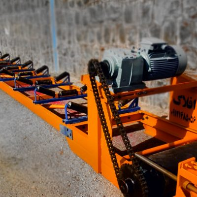 شاسی ناودانی با رولیک فلزی و غلطک فلزی روتراشی شده بهمراه گیربکس شفت مستقیم زنجیری